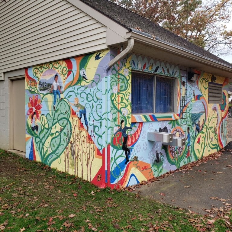 mural in quarryville borough